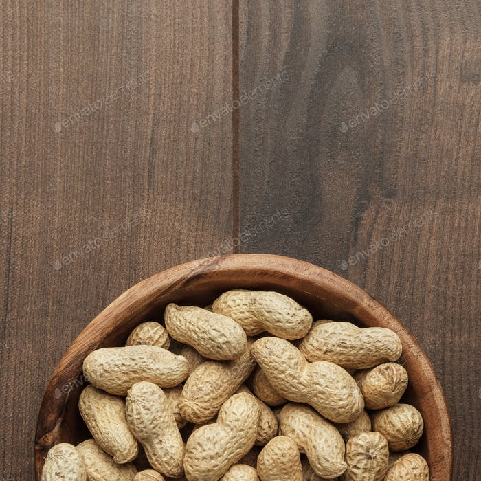 Thumbnail for Peanuts In Wooden Bowl On The Table