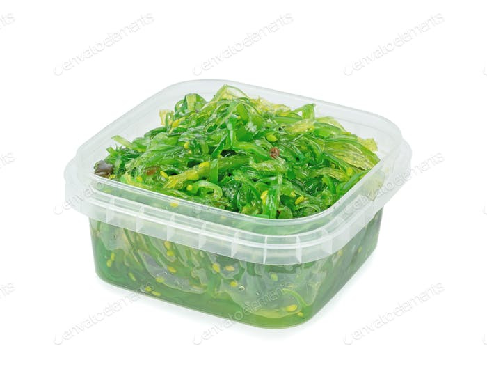 A Tub of Wakame Seaweed