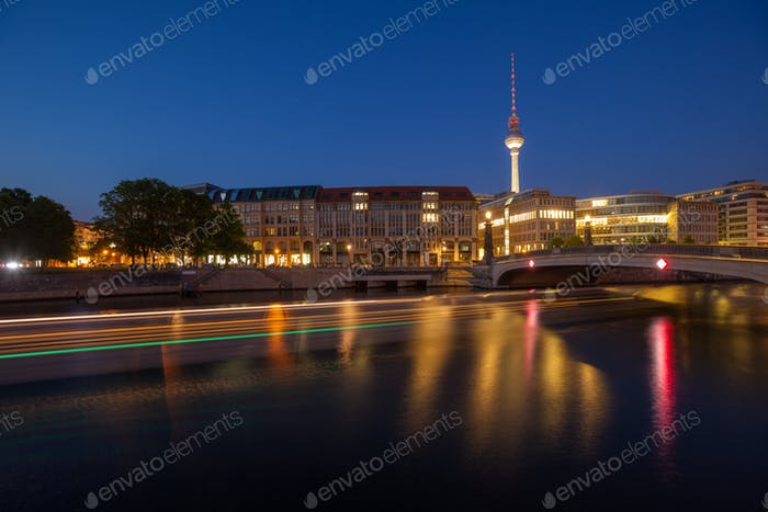 Berlin River Spree and TV Tower (Fernsehturm)