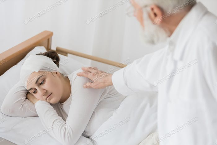 Checking the patient's health