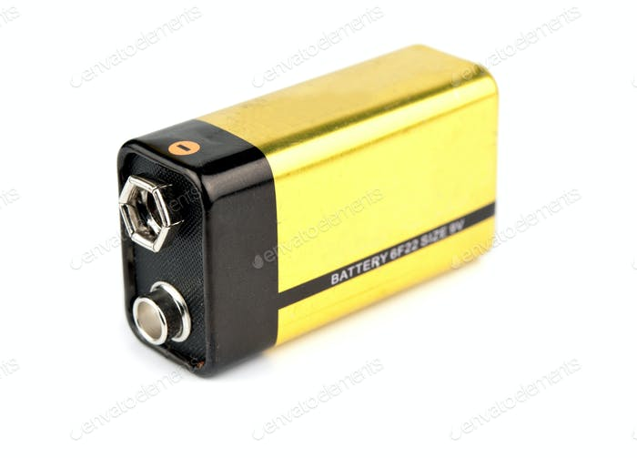 yellow 9v battery
