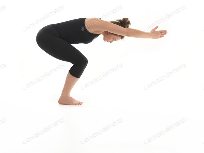 beginner yoga pose demonstration