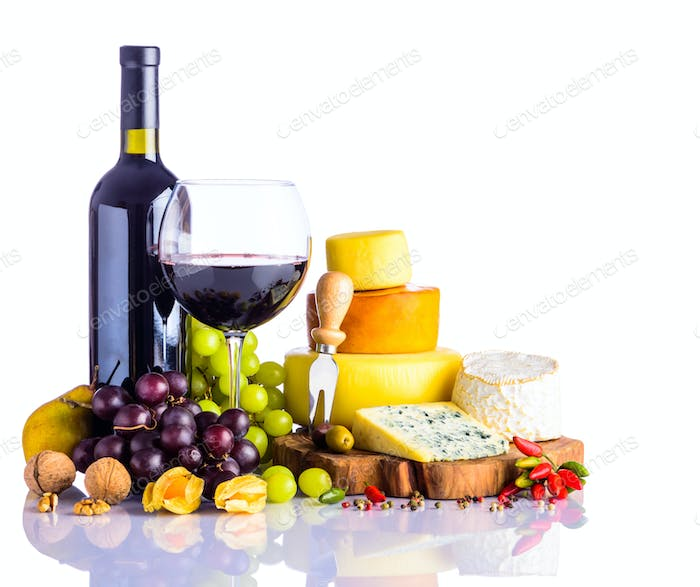 Red Wine and Cheese Wheel