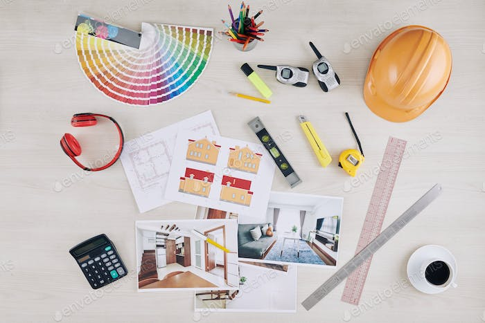 Table of professional architect