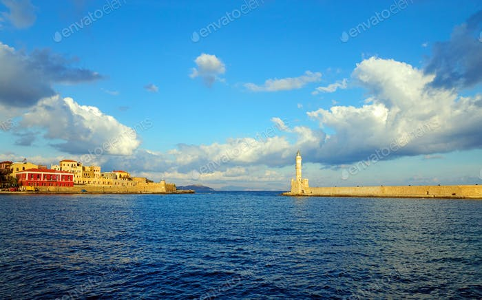 Entrance to the port of Chania