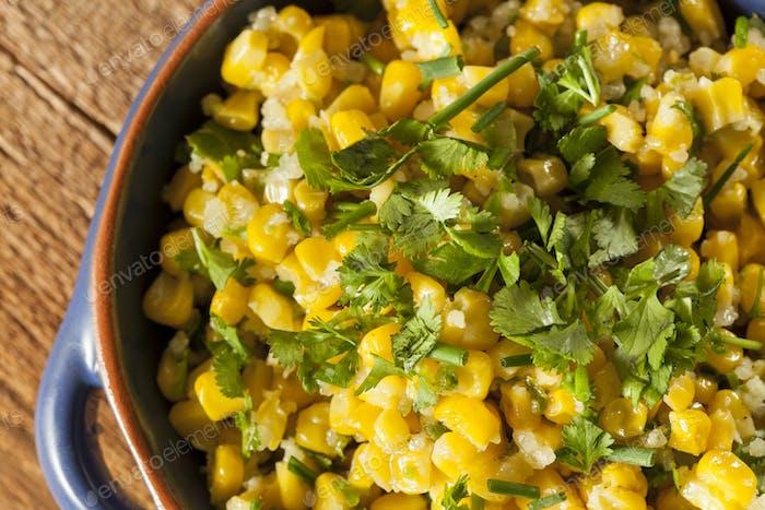 Homemade Organic Mexican Corn Dish