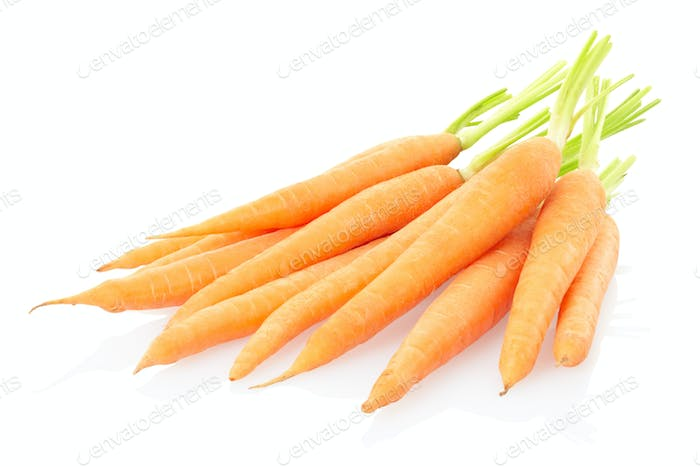 Carrots on white