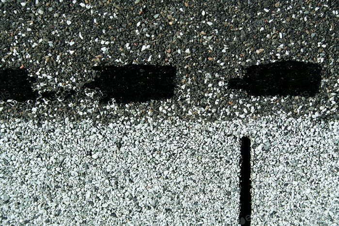 Asphalt roofing starter shingle background