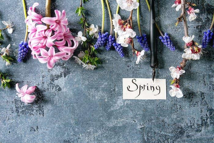 Spring blossom flowers