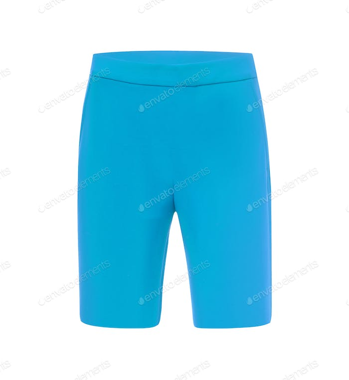 Woman's sports shorts isolated
