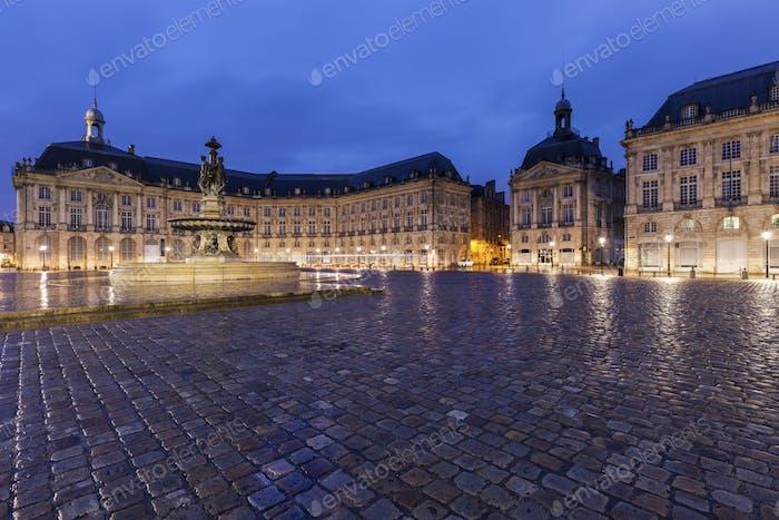 Fontaine des Trois Graces on Place de la Bourse in Bordeaux