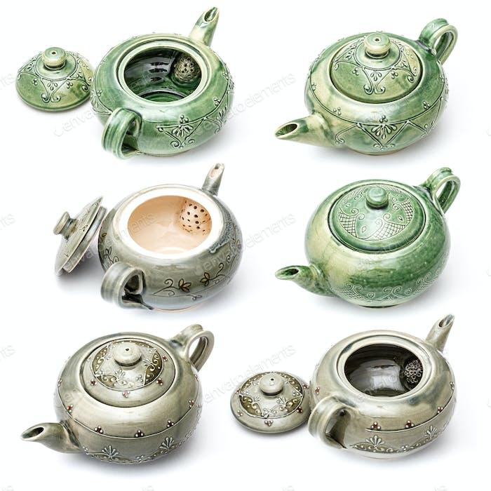 Handgefertigte Keramik-Teekannen