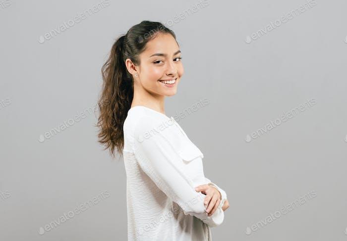 Healthy teeth smile woman beautiful