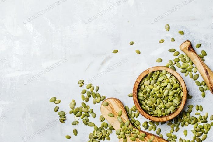 Raw pumpkin seeds