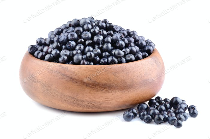 Heap of bilberries