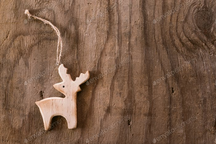 Wooden deer background