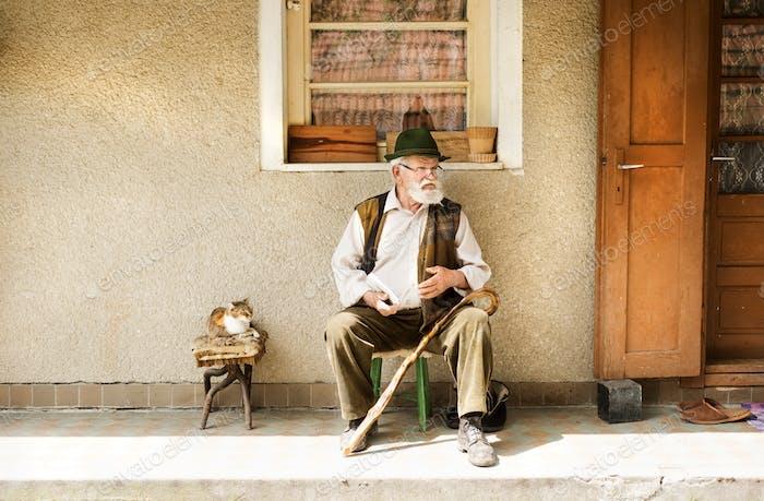 Alter Mann lesen