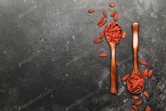 Getrocknete rote Goji-Beeren