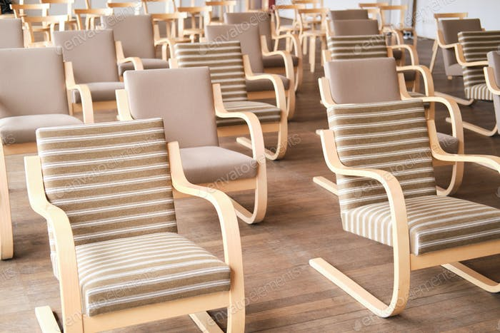 Chairs at conference hall