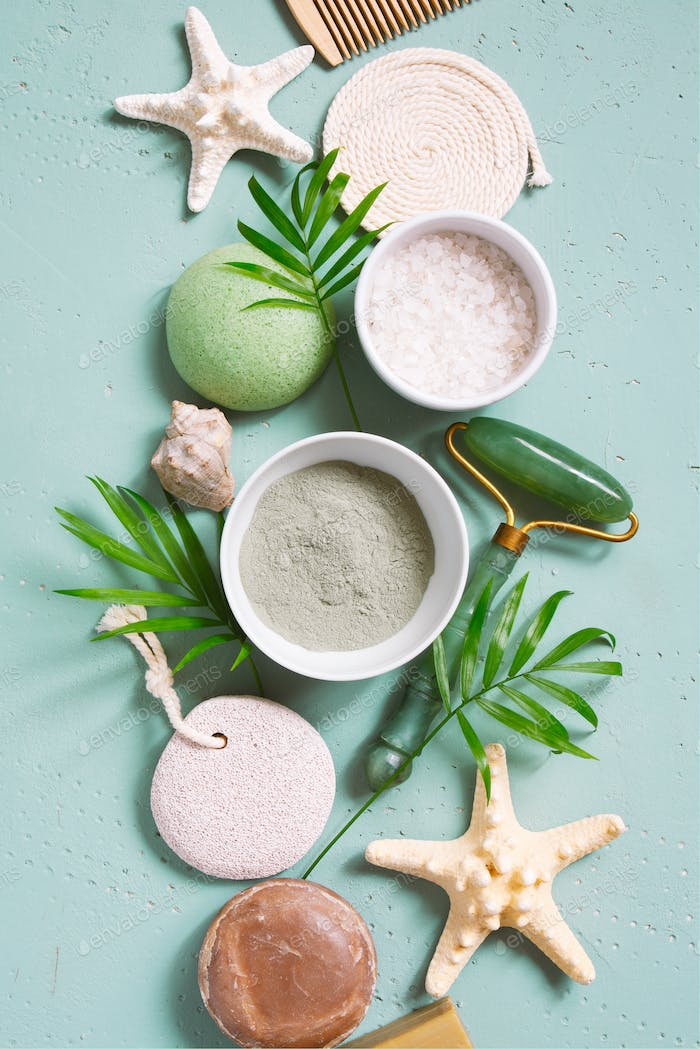 Natural Skincare Products and Tools
