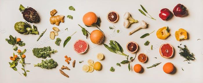 Vielzahl von Immunität fördert gesunde pflanzliche Lebensmittel