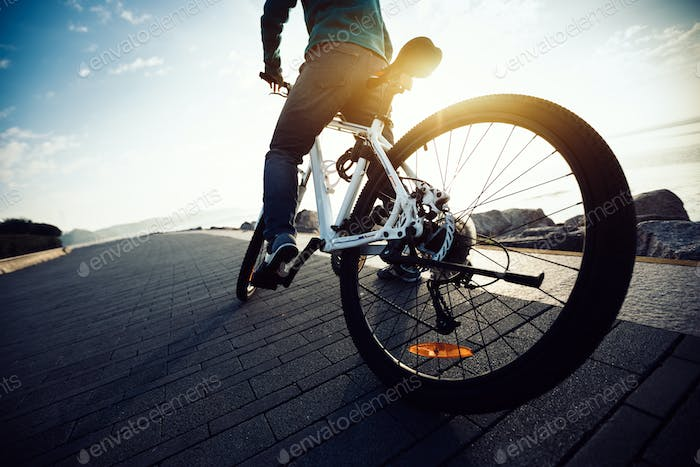 Cycling on morning