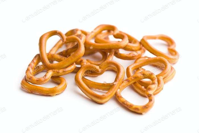Heart shaped pretzel.
