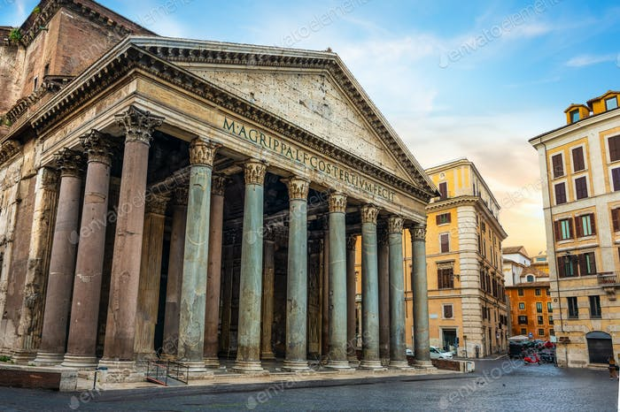 Antikes Pantheon in Rom