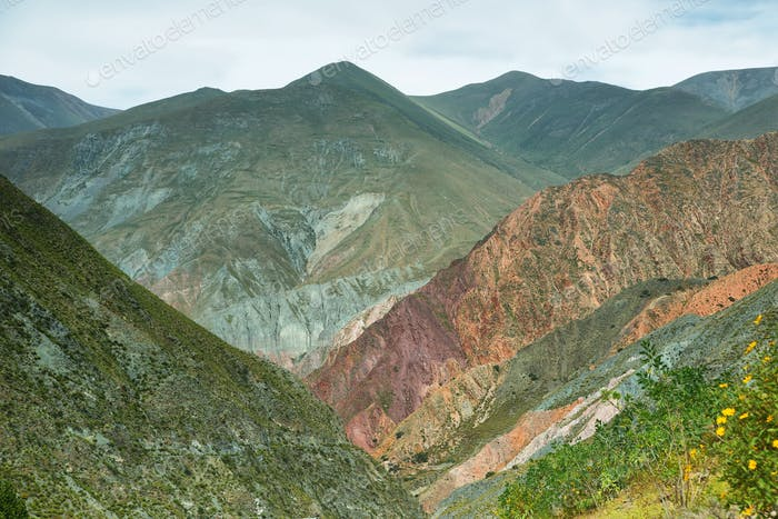 Multicolored mountains near Iruya, Argentina