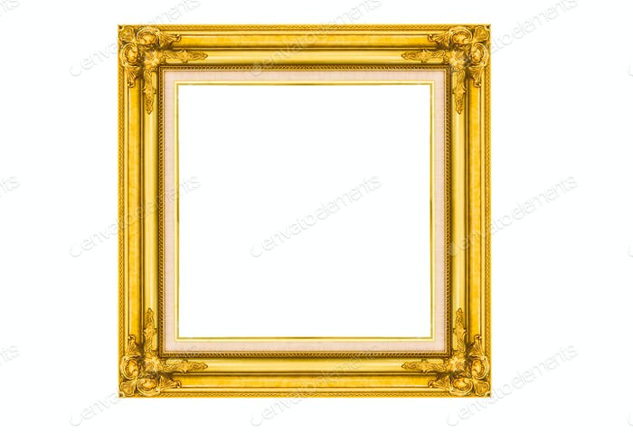 Golden wood picture frame