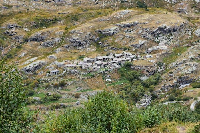 Ecot old village near Bonneval Sur Arc, Vanoise national park, Ffrance