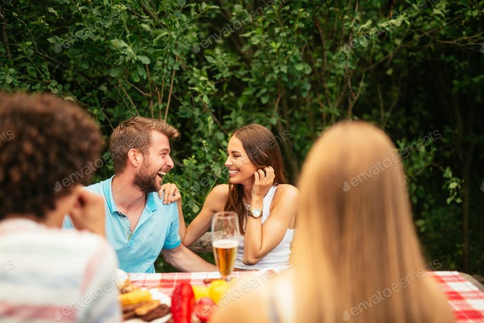 Couples enjoying date