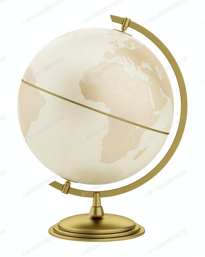 globe isolated on white background. 3d illustration