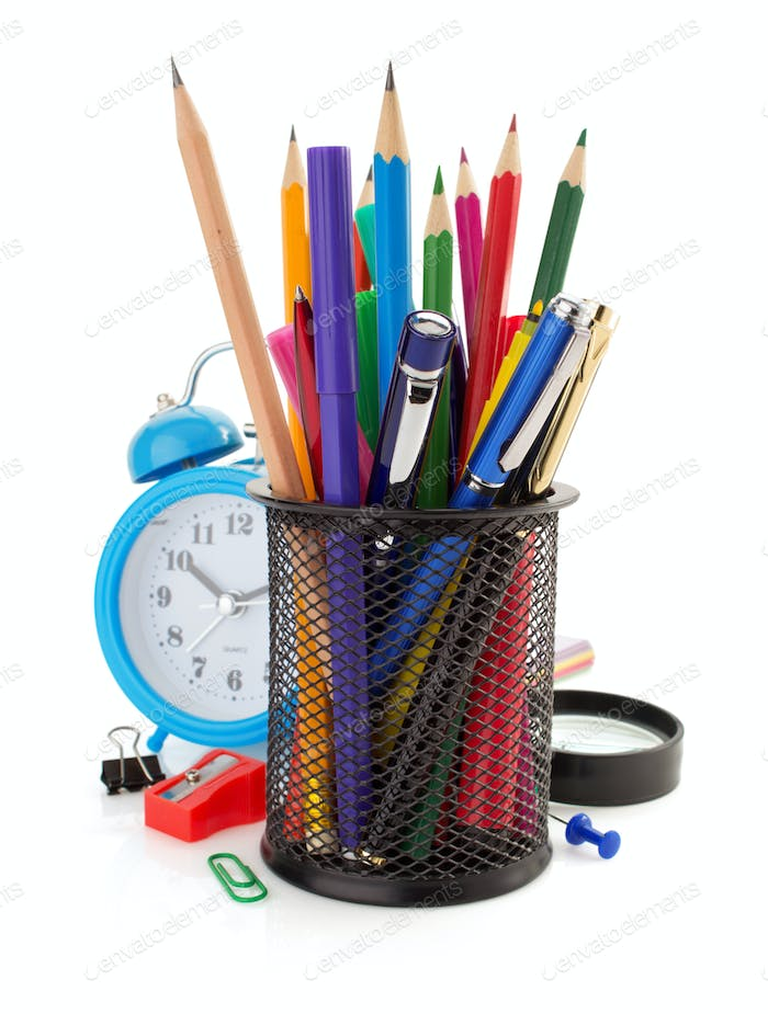 holder basket and office supplies