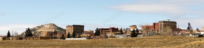 Downtown City Skyline Houses Walkerville Butte Montana USA