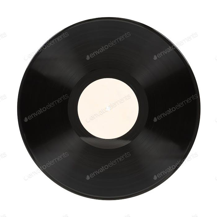 Vinyl record on white background