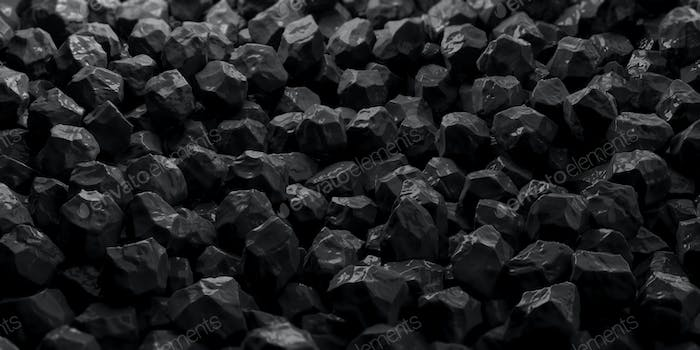 Black marble stones background. 3d illustration