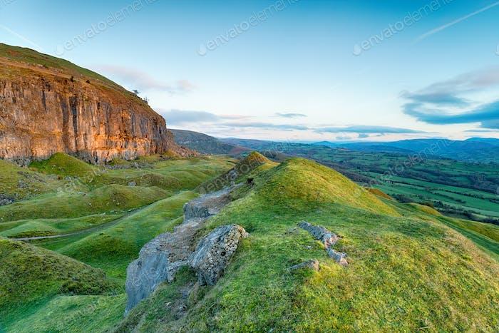 The Llangattock Escarpment in Wales