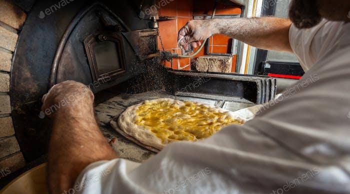 Schiacciata ist eine Art Brot aus der Toskana, Italien.