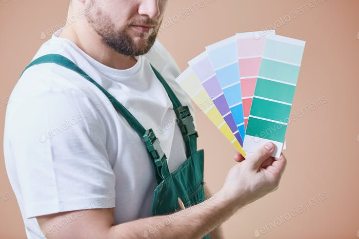 Painter with color palettes