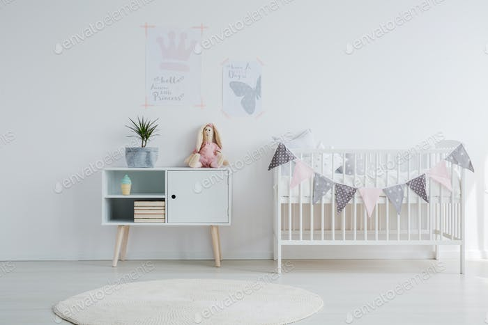 Bright baby room