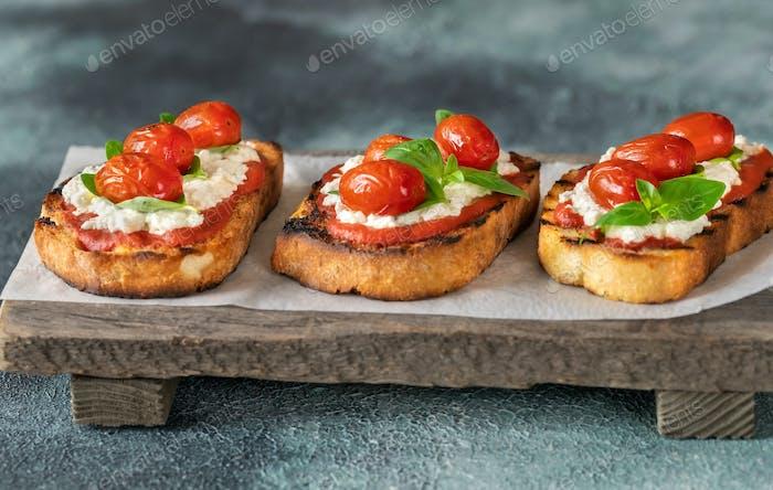 Italienische Bruschettas