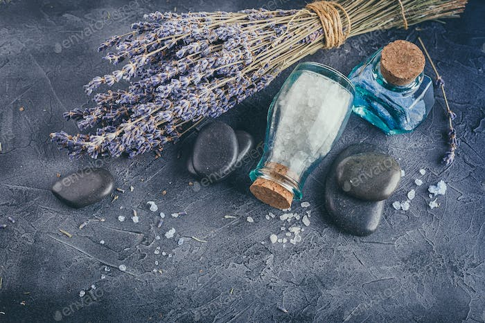 Spa treatment - body care. Lavender aromatherapy