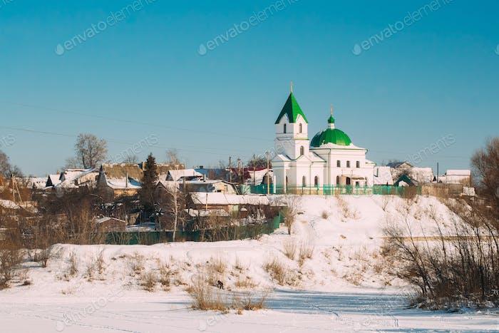 Gomel, Weißrussland. Kirche von St Nicholas Der Wundertäter In Sunny