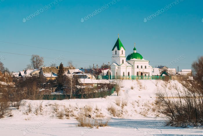 Gomel, Belarus. Church Of St Nicholas The Wonderworker In Sunny