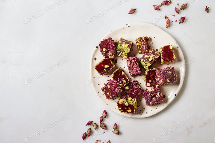 Variety of Turkish Delight