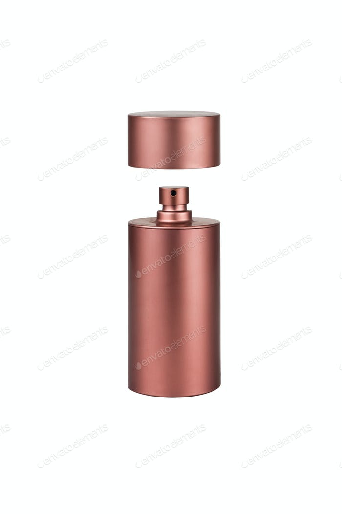 Cosmetic liquid foundation isolated on white