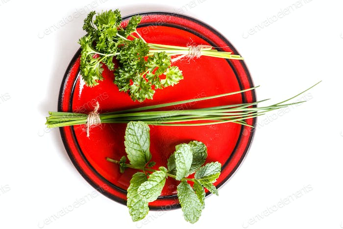 Plate of herbs