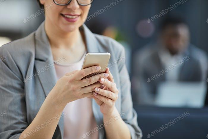 Mensajes de texto en el teléfono inteligente