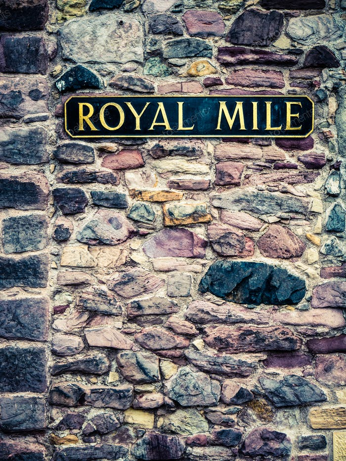 Edinburgh Royal Mile Sign